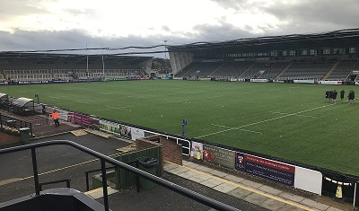 The view from the Kingston Park Bus Bar