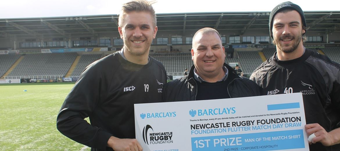 Barclays chip in with 'Big One' donation - Newcastle Falcons